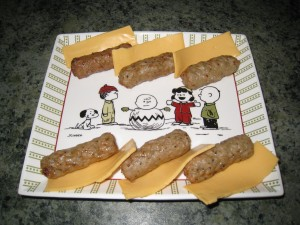 Sausage a la Jimmy Dean and Fromage Americaine
